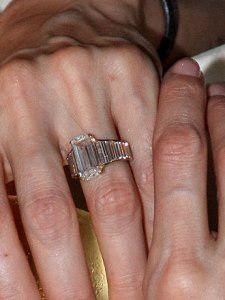 Angelina Jolie Engagement Ring, Boca Raton engagement ring, emerald cut ring boca