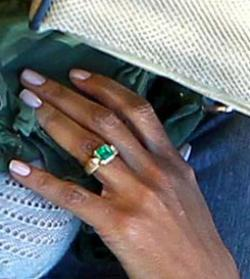 halle berry engagement ring, boca raton engagement ring, emerald engagement ring boca