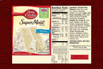 Betty Crocker Chocolate Cake Mix Ingredients
