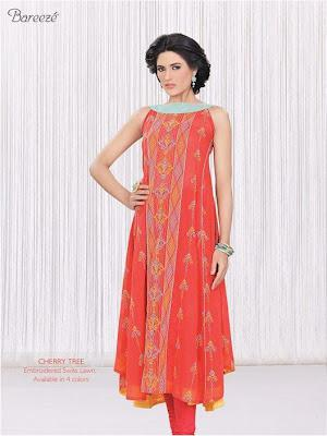 Bareeze's Embroidered Swiss Lawn 2012 New Arrivlas