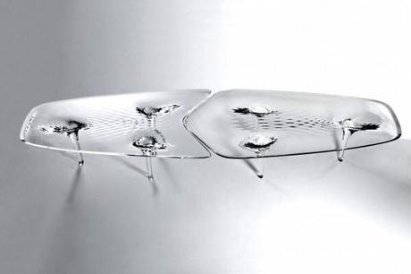 Zaha Hadid's Liquid Glacial Table