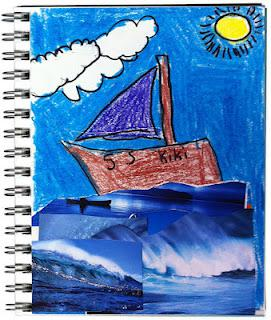 Ocean Collage Art Journal Page