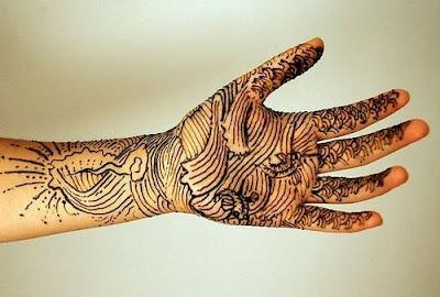 New Trends in Bridal Mehndi Designs 2012