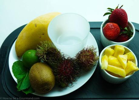 Ingredients of Refreshing Fruit Salad