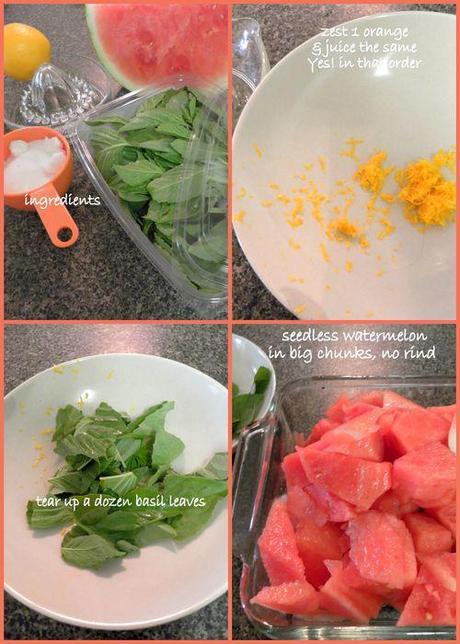 Watermelon & Basil sorbet-ingredients