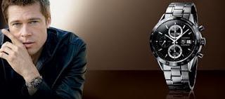 Brad Pitt became an ambassador for Tag Heuer.