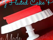 Fluted Cake Plate