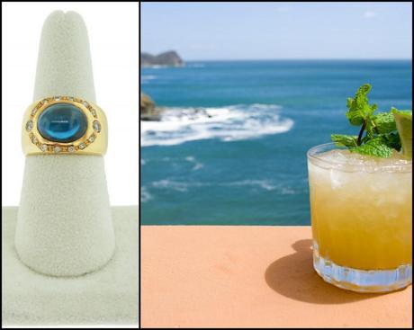 Perfect Mai Tai Cocktails, cocktail ring, mai tai recipe, perfect mai tai, blue topaz ring