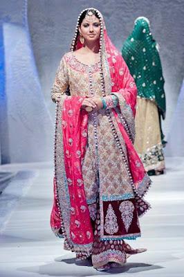 Stunning Bridal dresses 2012 by Zainab Sajid in PFW
