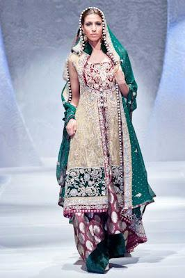 Stunning Bridal dresses 2012 by Zainab Sajid in PFW