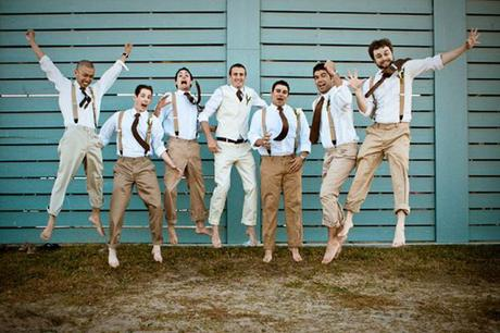 casey & john beach wedding groomsmen