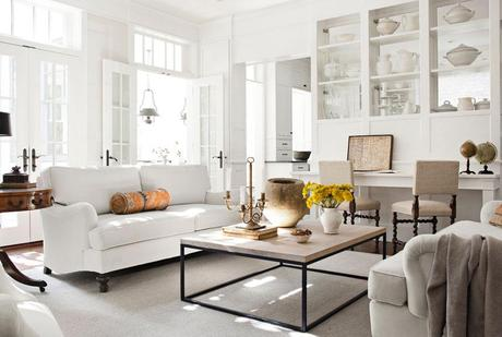 A white, bright, sophisticated country home