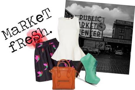 MaRket FresH. by momfashionlifestyle featuring an orange bag