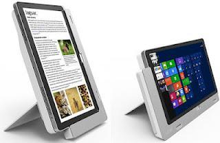 Acer Iconia W700. Incluye un dock opcional que proporciona un interesante abanico de posturas diferentes.