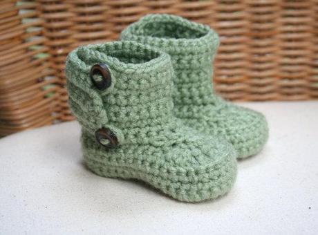 Crochet Baby Garden Boots