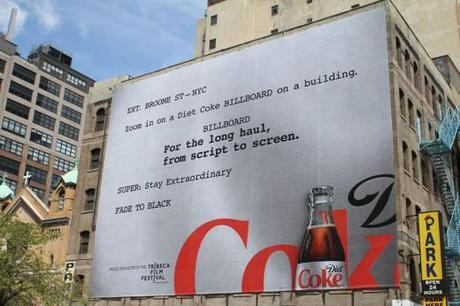 Diet Coke Tribeca Film Festival Billboard by Wieden + Kennedy
