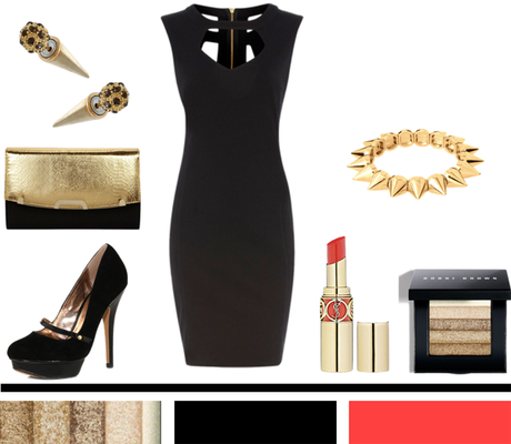 Gold + Black + Coral + Spikes…