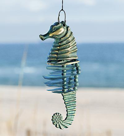 Seahorse Wind Chimes Catching Cool Breezes