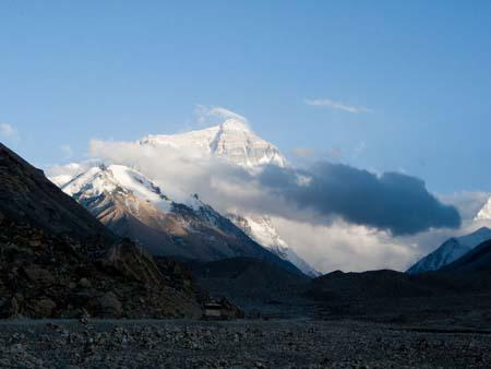 Mount Everest viewed from Everest Base Camp Tibet side