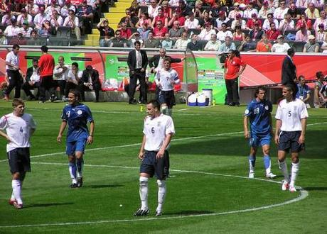 John Terry (6) and Rio Ferdinand (5) appear together for England vs Paraguay in 2006