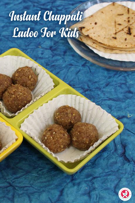 Here is a simple recipe in which chappathis are made into a healthy dessert. It just takes 5 minutes to enjoy these nutty and yummy laddoos.