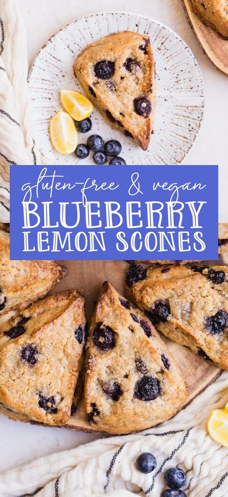 Gluten-Free Vegan Lemon Blueberry Scones are going to become your new favorite breakfast and snack. They have a tender texture with a crispy exterior and are full of bright, lemony flavor.