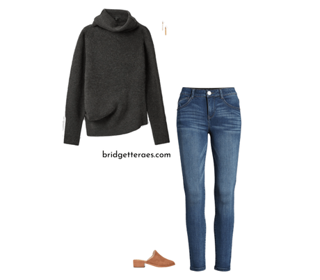 Transitional Style: Sweaters and Flats Looks