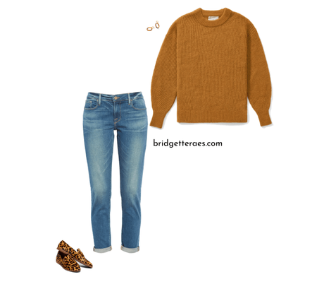 sweaters and flats