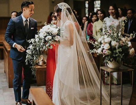 catholic wedding vows ceremony newlyweds