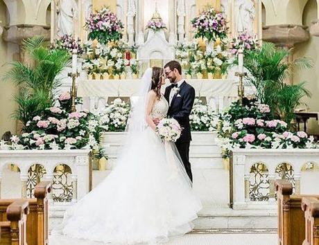 catholic wedding vows bride and groom ceremony