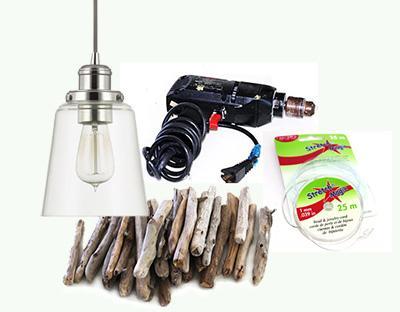 driftwood pendant light