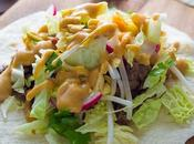 Ginger Beef Tacos with Peanut Sauce