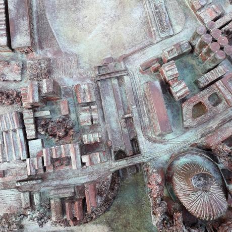 Bordeaux's fourth bronze orientation map celebrates the Bassins à Flots docklands district