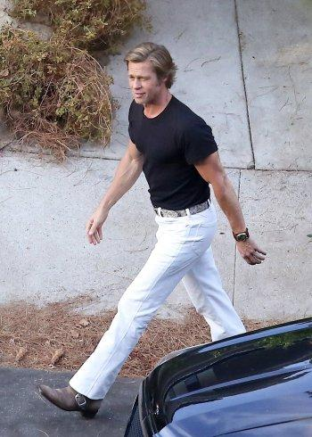 Once Upon a Time in Hollywood: Brad Pitt in Black and White