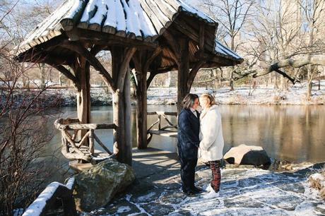 Alwena and Amanda's Elopement at Wagner Cove in December