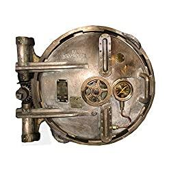 Image: Steampunk Hatch Door Wall Decal - 31.5 inches wide x 27 inches tall, by Inkwood Impressions