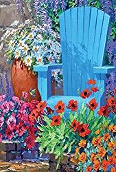 Image: Toland Home Garden Adirondack Arrangement 28 x 40 Inch Decorative Spring Summer Flower Floral House Flag