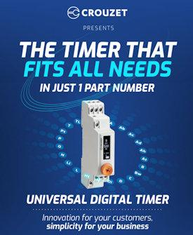 Crouzet Syr-Line DZ1R08MV1 Universal Digital Timer That Fits All Your Needs