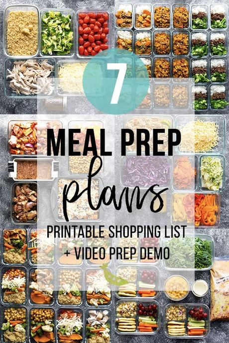 meal prep plans collage image with text