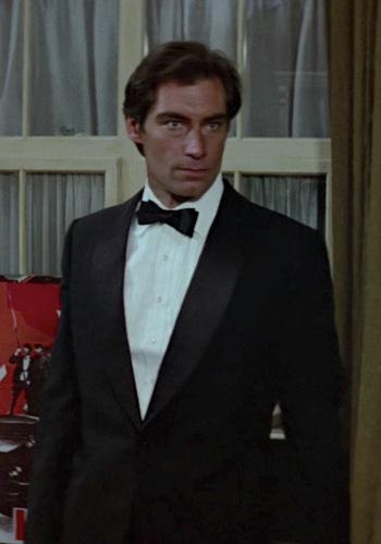 Timothy Dalton's Shawl-Collar Dinner Jacket in The Living Daylights