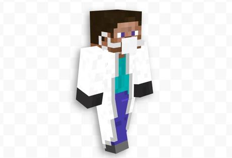 Face mask Minecraft skin is trending