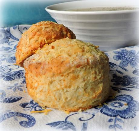 Oat and cheddar scones