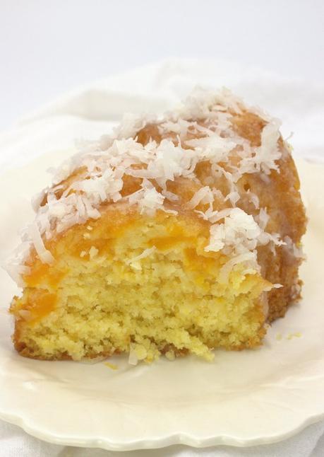 6-Ingredient Mango-Coconut Bundt Cake #SpringSweetsWeek