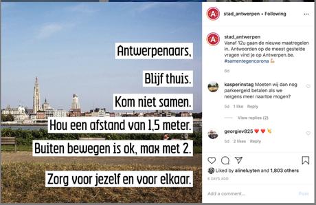 Antwerp Life During Corona Virus Restrictions