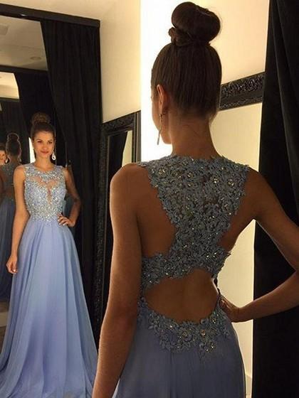 A-line Lavender Prom Dresses