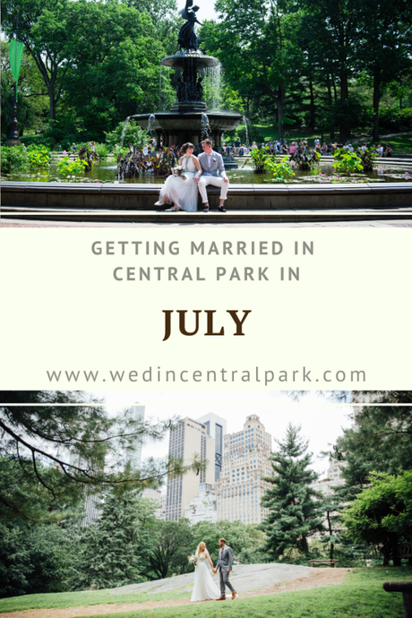 Getting Married in Central Park in July