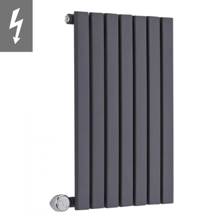 Milano Capri Electric - Anthracite Horizontal Flat Panel Designer Radiator 635mm x 420mm