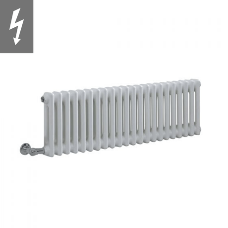 Milano Windsor - Traditional White 2 Column Electric Radiator 300mm x 1010mm (Horizontal) - Choice of Wi-Fi Thermostat