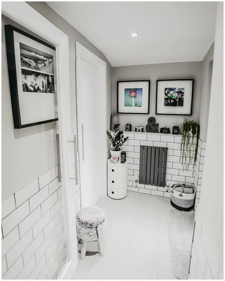small Milano Capri radiator in a small hallway