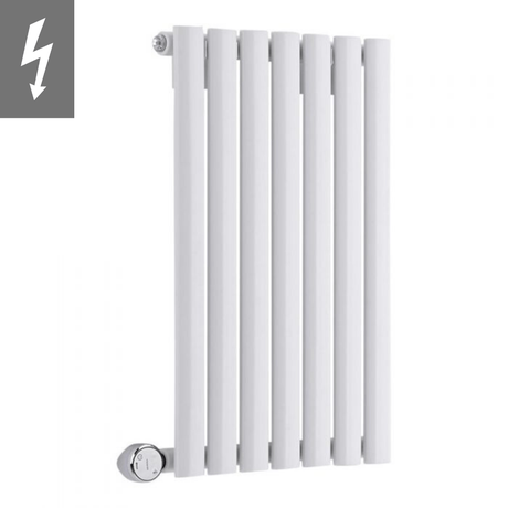 Milano Aruba Electric - White Horizontal Designer Radiator 635mm x 415mm